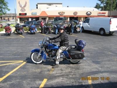 En biker - Ala tyskland - På sin Road King