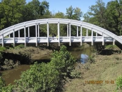 En af mange Rainbow bridges undervejs - Denne i Kansas